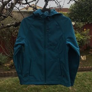 Beautiful sea blue hoodie jacket zipper pockets